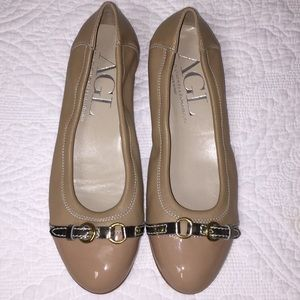 AGL leather Ballet flat. Shoe size 38 1/2